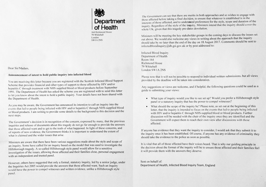 Public inquiry recent department of health letter scottish copy of department of health letter spiritdancerdesigns Choice Image