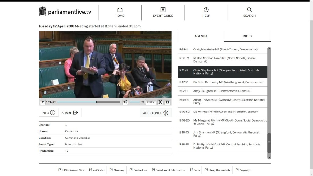 Chris Stephens MP - 12 Apr 16 House of Commons